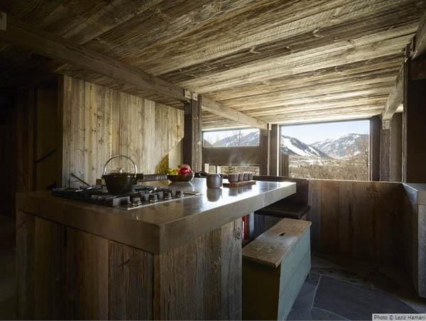cocina rustica de madera natural