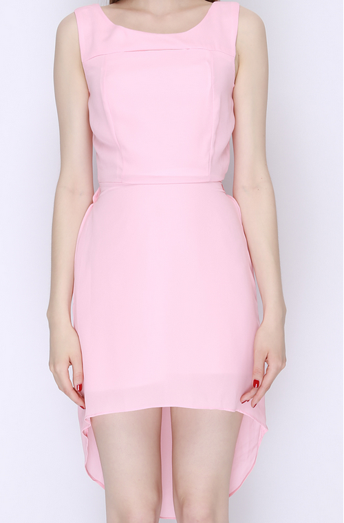 Mullet Chiffon Cut Out Dress