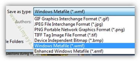 Gambar:  Menyimpan gambar dari slide microsoft powerpoint dalam berbagai tipe atau format gambar