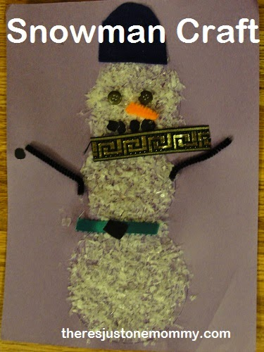 Snowman Craft by There's Just One Mommy