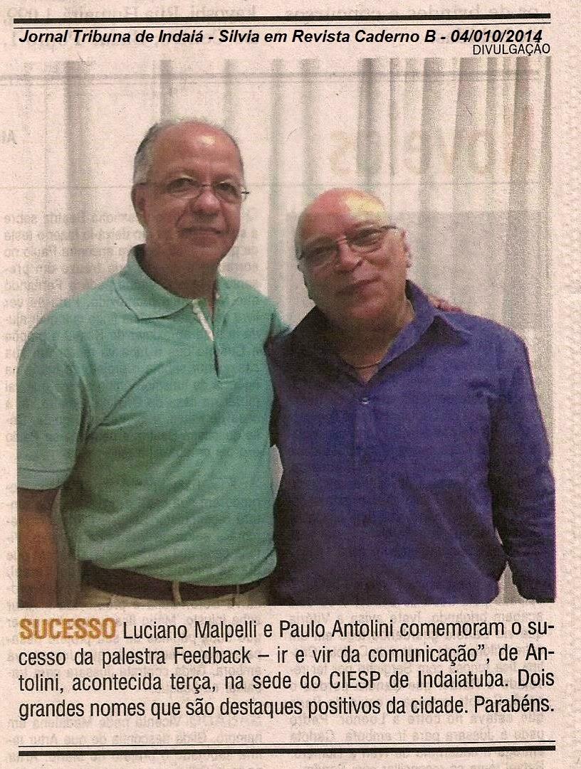 Jornal Tribuna de Indaiá - Caderno B - Silvia em Revista - 04/10/2014 Indaiatuba