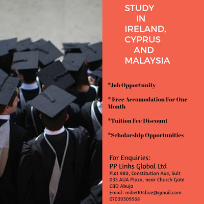 Study In Ireland, Cyprus And Malaysia