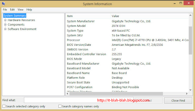 system information windows 8