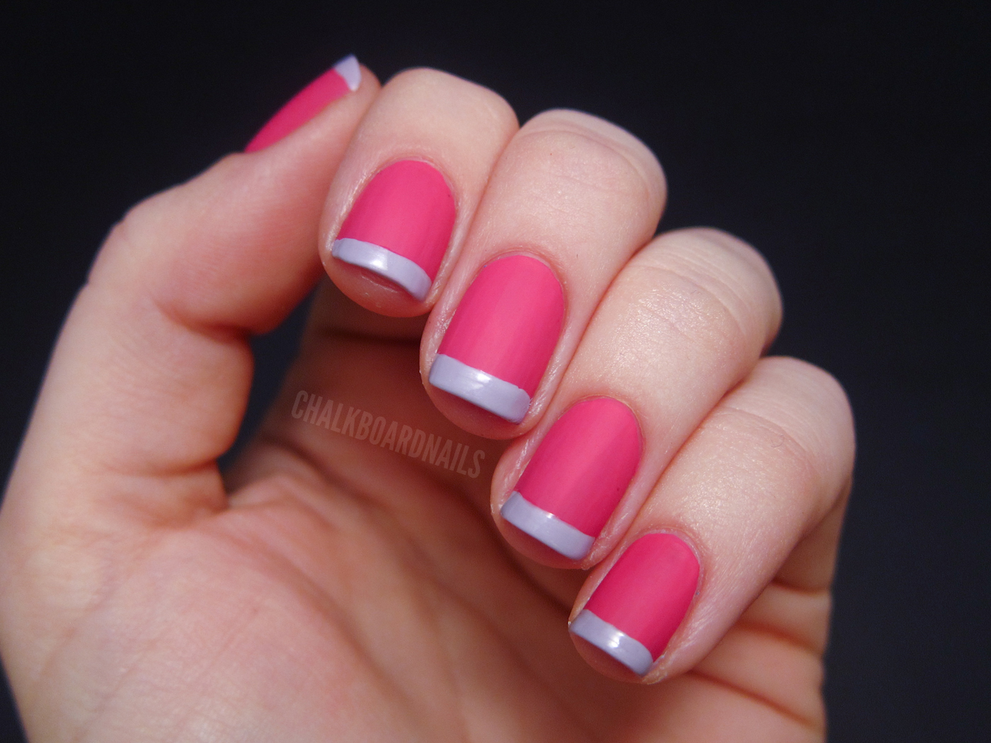 Valentine\'s French Tips | Chalkboard Nails | Nail Art Blog