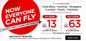 Tiket promo Air Asia kuala lumpur