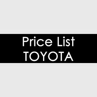 Mobil Toyota di Jakarta, Daftar Harga, Price List Toyota