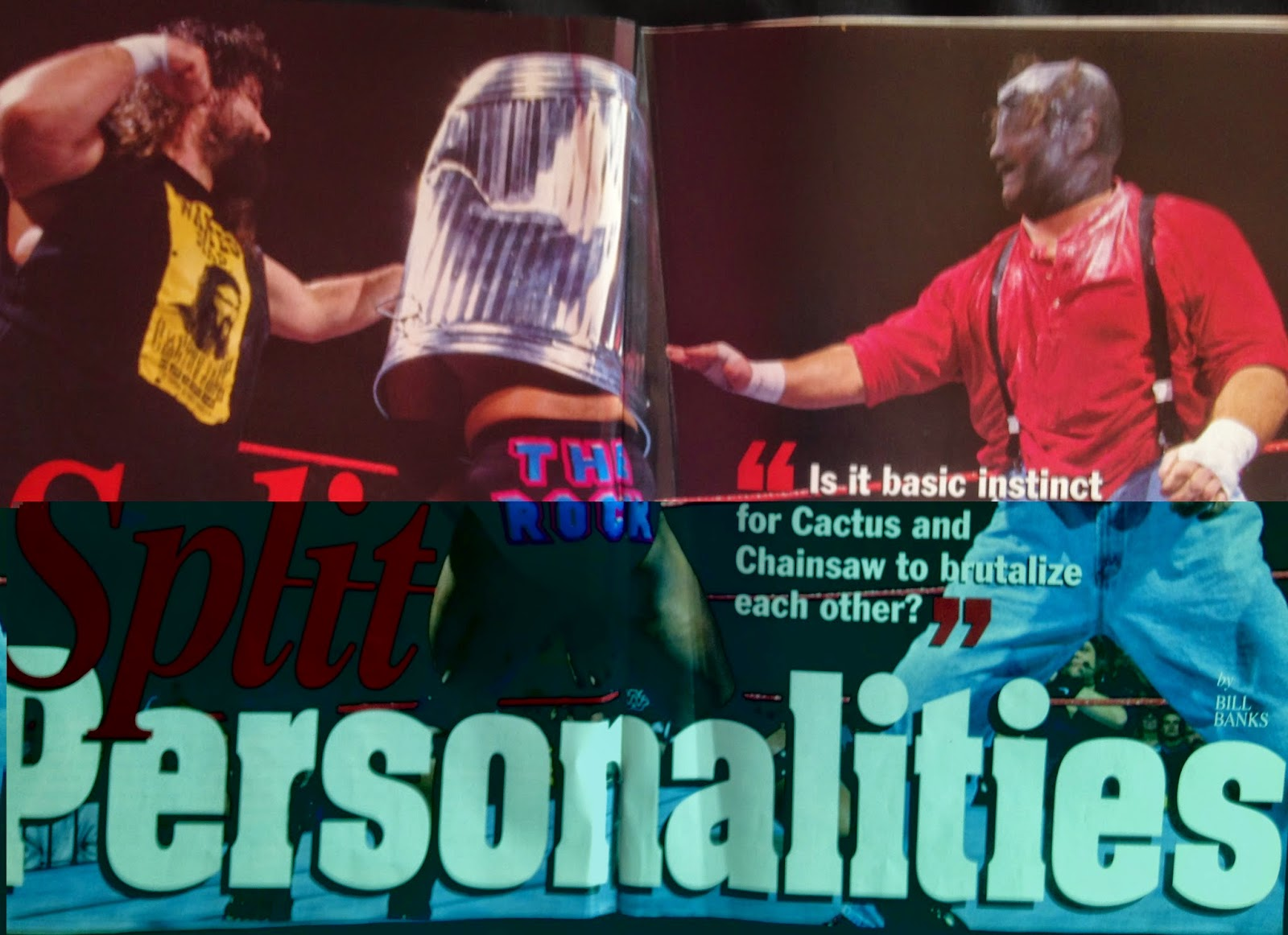 WWE - WWF Raw Magazine - April 1998 -  Cactus Jack and Chainsaw Charlie