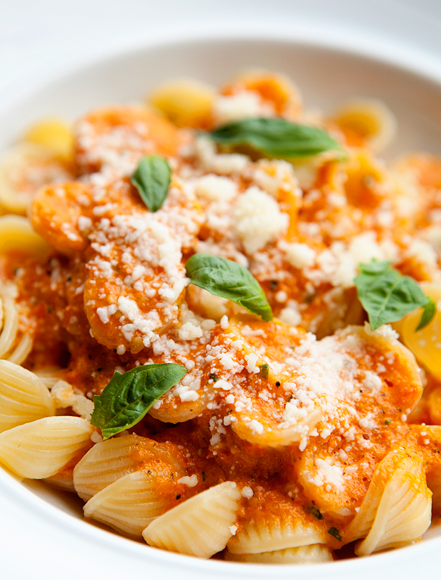 orecchiette with fresh tomato sauce
