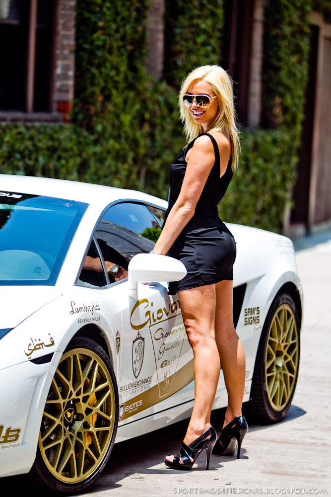 Cars Amp Girls Blonde Flanks Lamborghini Lp560 Tt Sport Cars