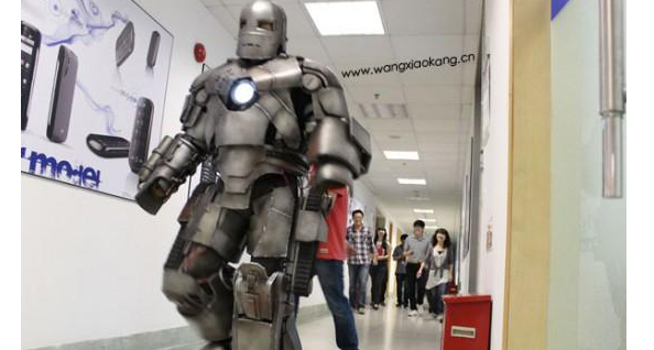 RealLife Iron Man Goes to the Office Video The Geek Twins