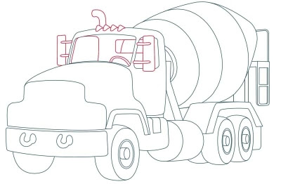 How to Draw Cement Trucks in 10 Steps
