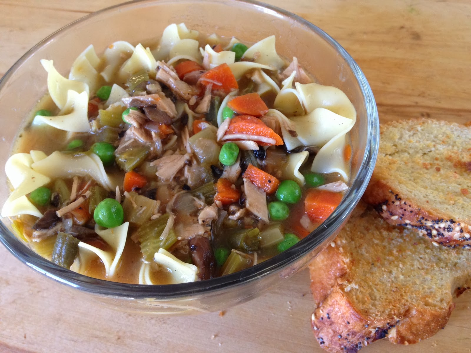 Cheftainment: Roasted Turkey Noodle Soup