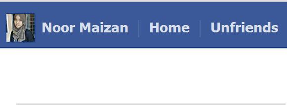 Unfriend Finder dalam FB memerlukan ketabahan hati .