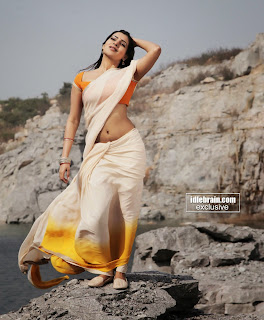 Samantha hot navel pics from Autonagar Surya in short sleeve blouse and transparent saree