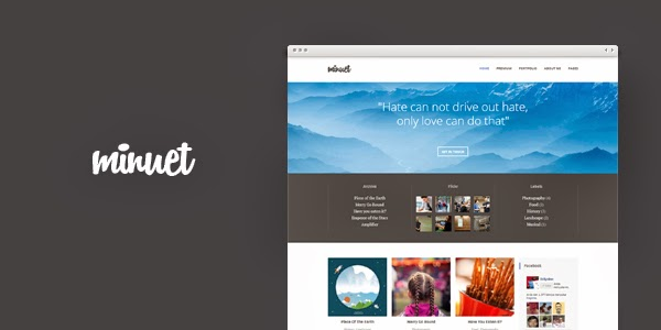 Minuet Blogger Template