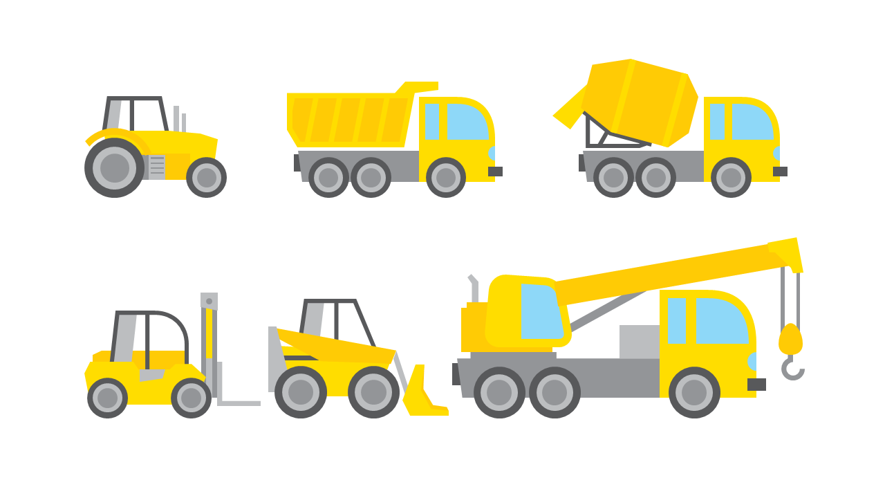 [PPT clipart#5] Construction Vehicles Powerpoint_건설용 차량 ...