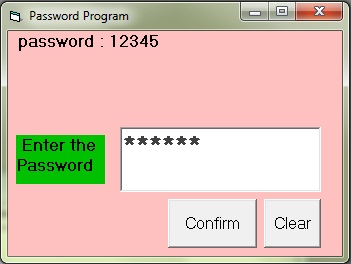 This is a password related program that uses PasswordChar property