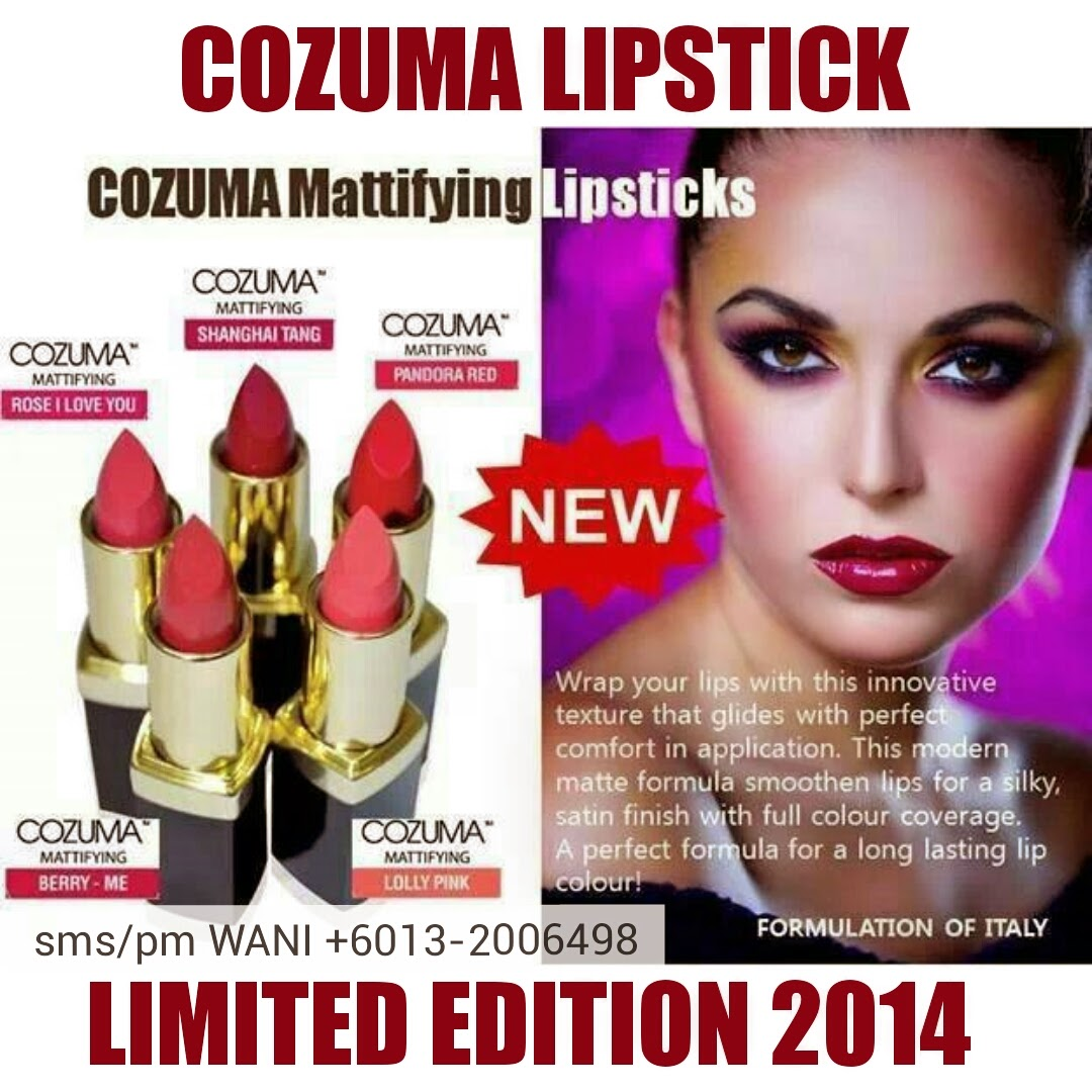 Loving these new Cozuma Lipstick So pretty moist