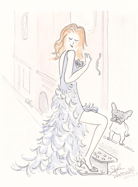 Fashion illustration : All Aboard, Frenchies and Fluffballs © Shell-Sherree