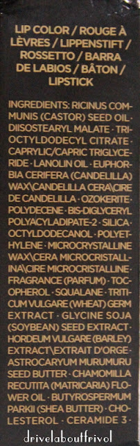 Tom Ford lipstick ingredients