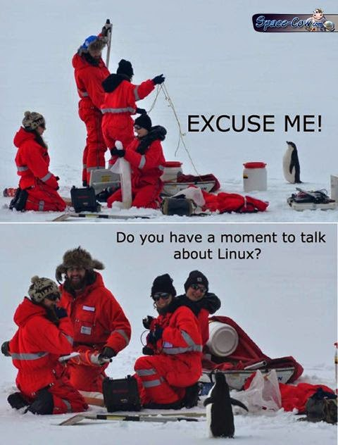 funny Linux penguin picture