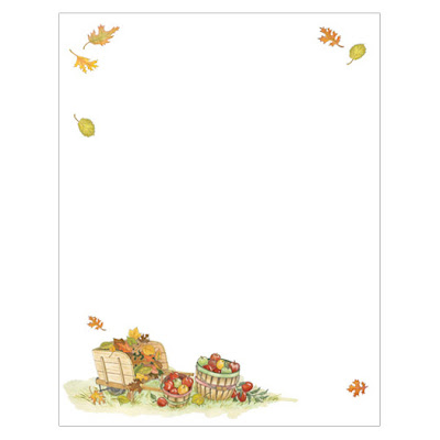 Harvest Apples Fall Autumn Thanksgiving Ink Jet Paper