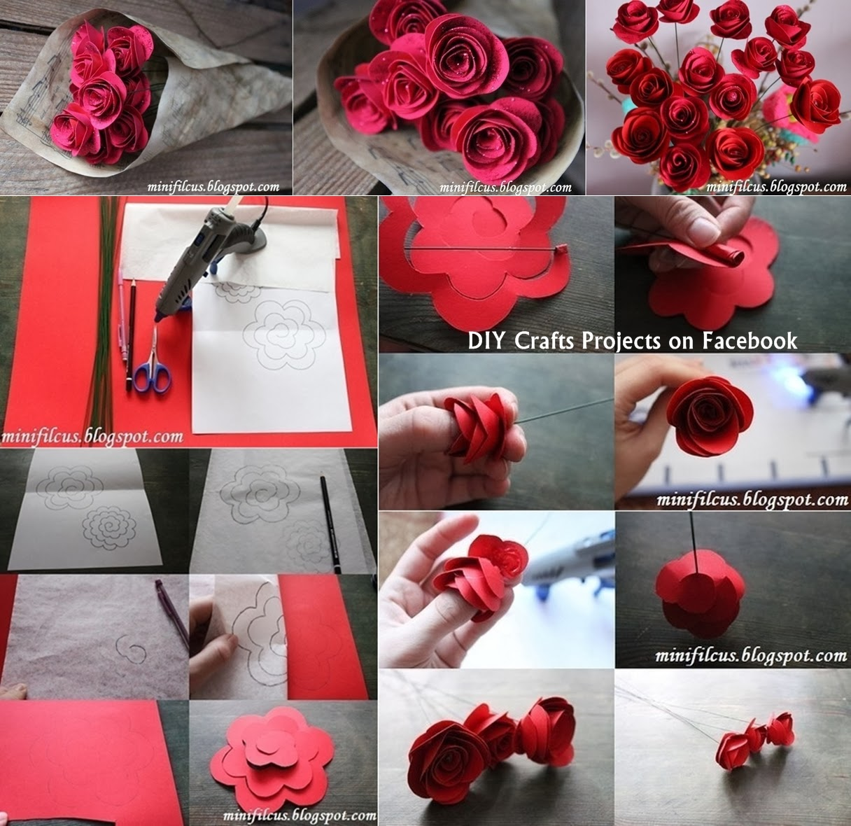 Diy Paper Fresh Flowers Diy Craft Projects