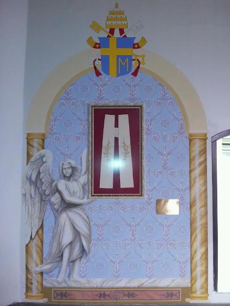Espaço dedicado à Estola do Beato João Paulo II