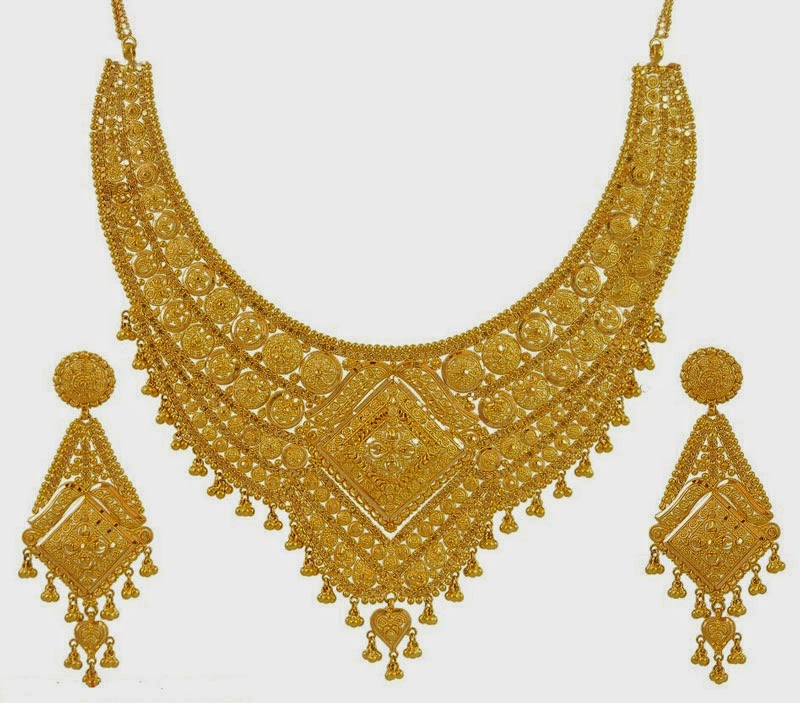 Wedding Gold Necklace Designs | Wedding Snaps....