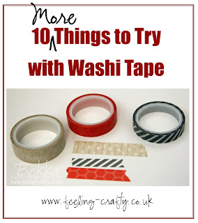10 More Things to Try with Washi Tape from UK based Stampin' Up! Demonstrator Bekka Prideaux