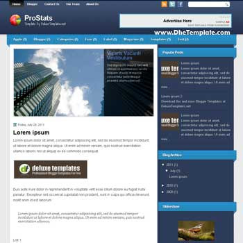 ProStats blogger template. blogger template for business blog