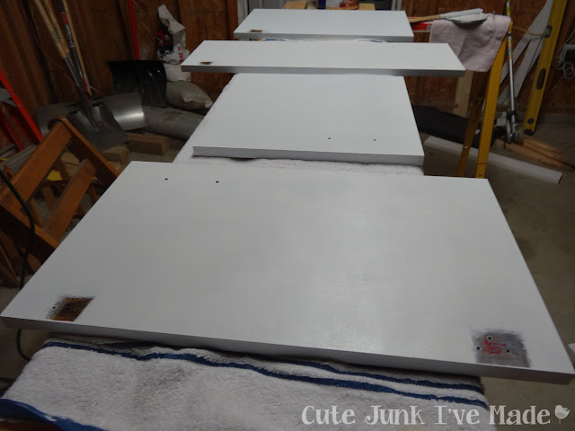 How to Paint Laminate Cabinets - Part Two - doors with second Coat of Primer