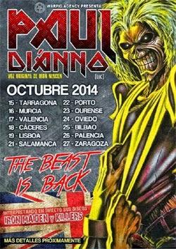 Gira por España de Paul Di'Anno en octubre