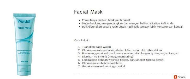 Facial Mask -$7