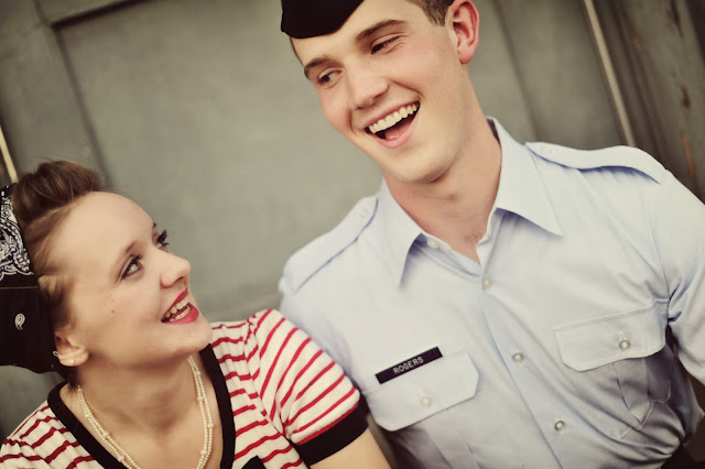 Flashback Summer: Happy Birthday! - love/ life/ vintage couple photoshoot/ military