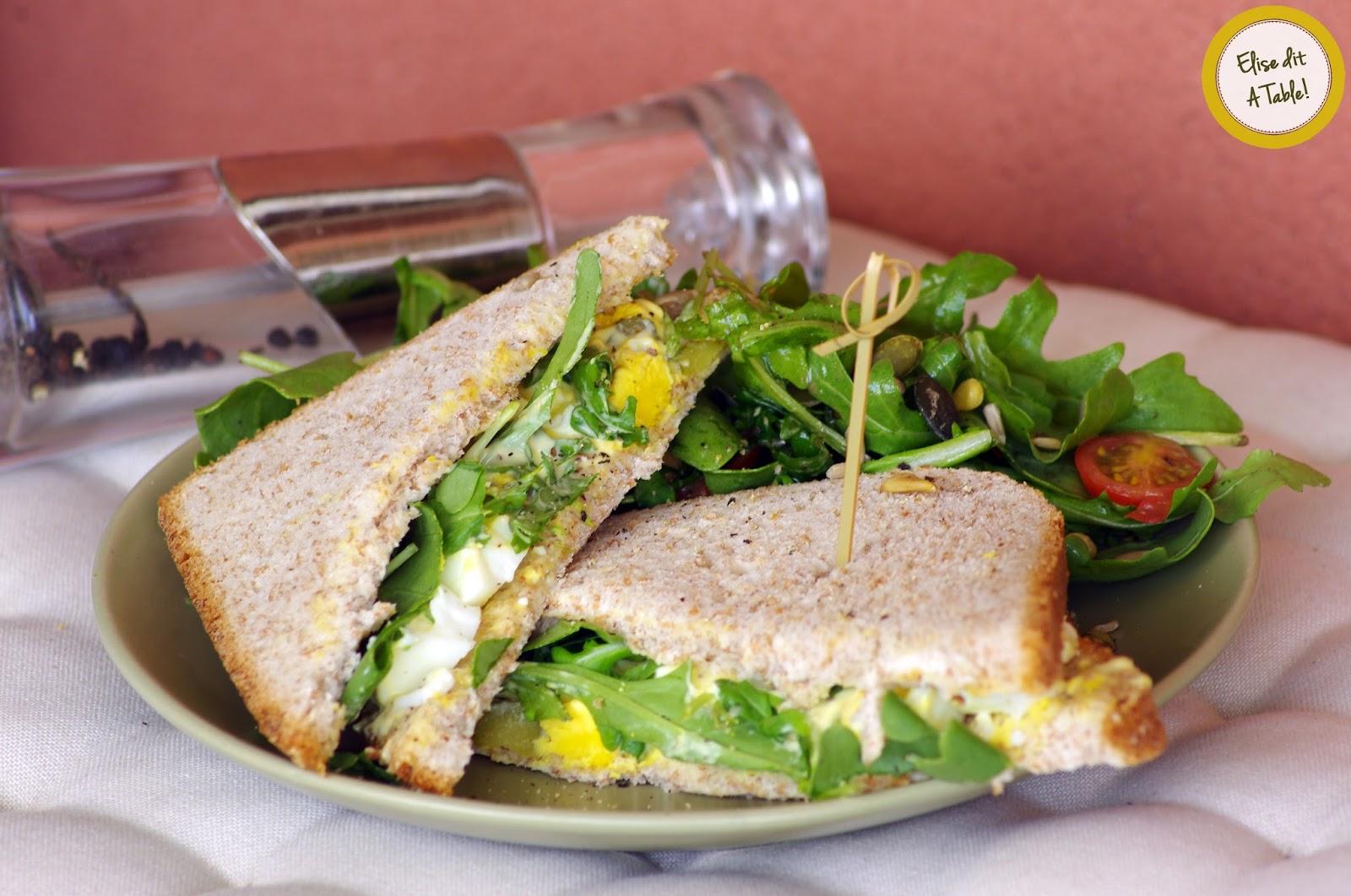 recette sandwich oeufs durs