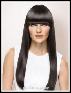 Color de cabello negro y largo