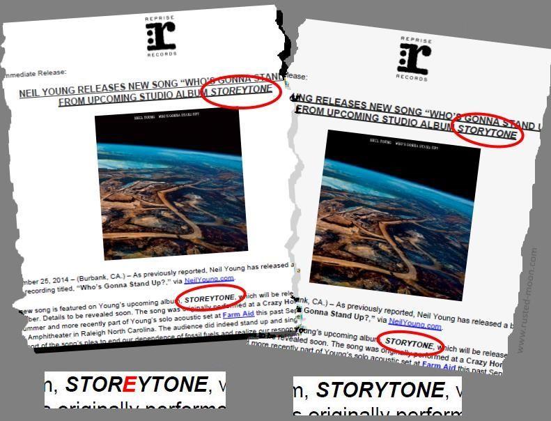 Neil Young - Storeytone oder Storytone?