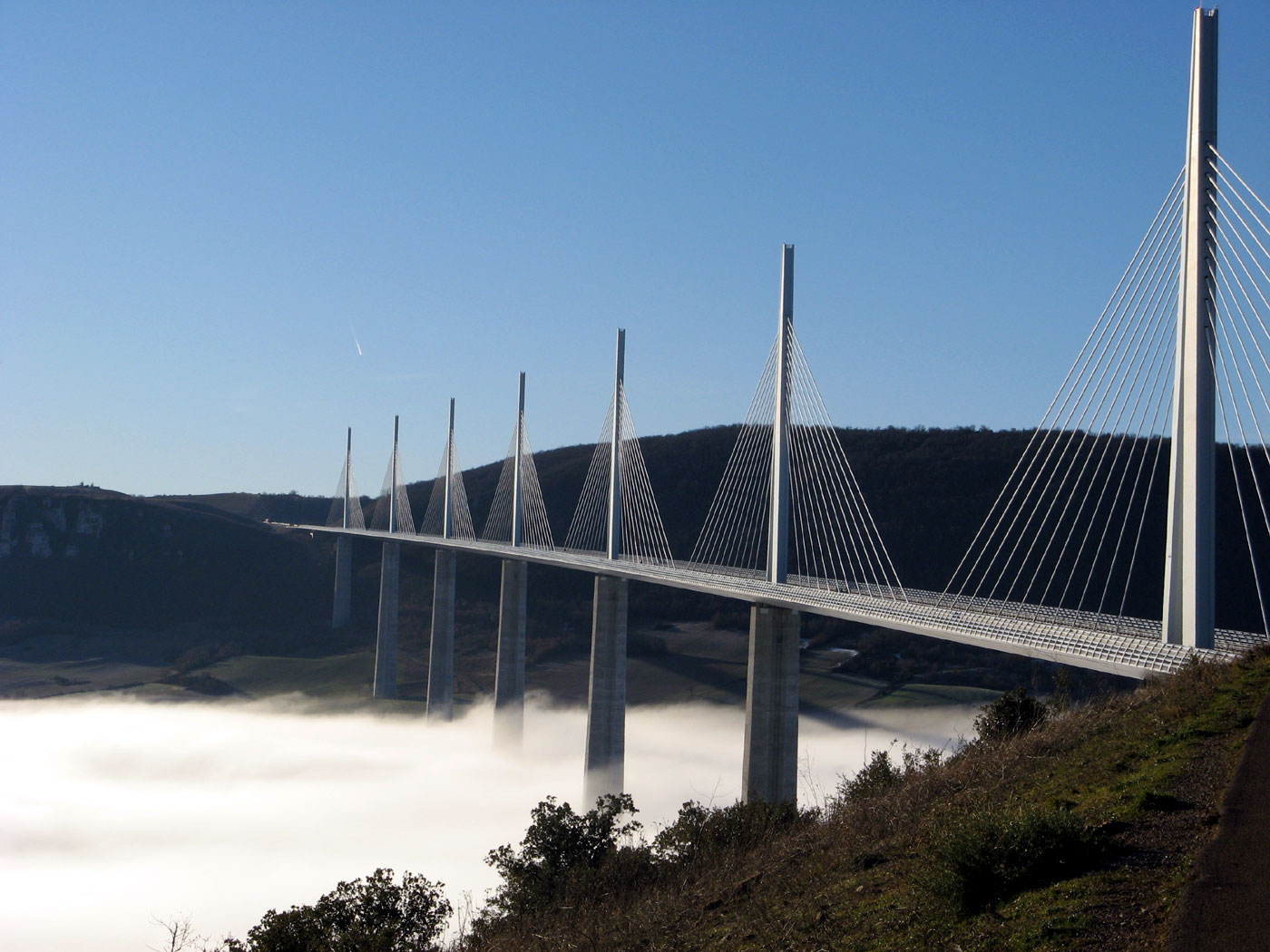 millau bridge Millau bridge is one of the highest and longest bridges in the world it is a cable-stayed bridge in southern france and it crosses over the tarn river valley it is.