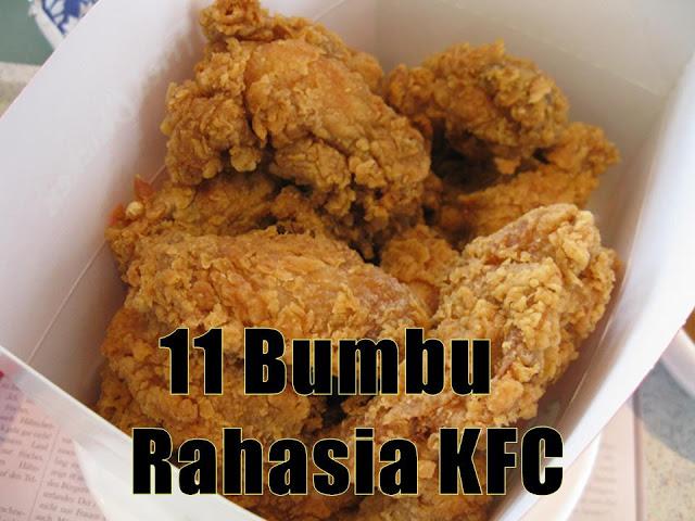 Terbongkar !! Inilah 11 Bumbu Rahasia KFC