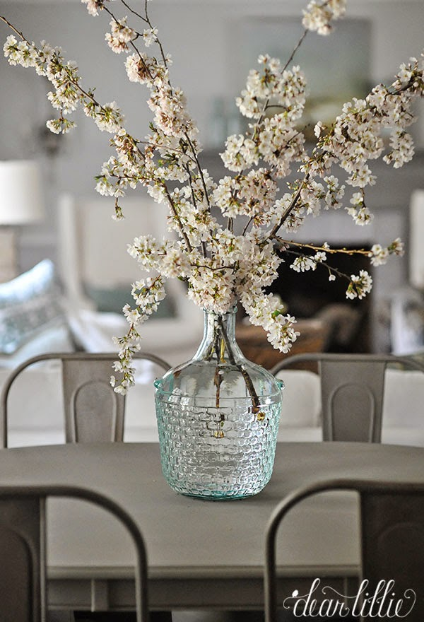 Spring Flower Arrangement in a Glass Demijohn from Dear Lillie | Friday Favorites at www.andersonandgrant.com
