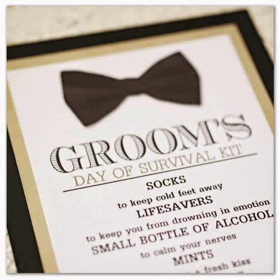 a bride s notebook groom s wedding day survival kit
