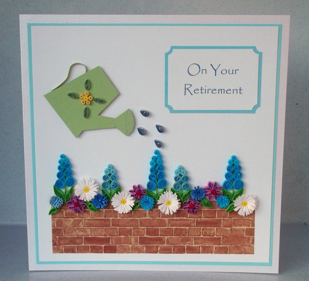 Paper Daisy Cards Quilled Retirement Card