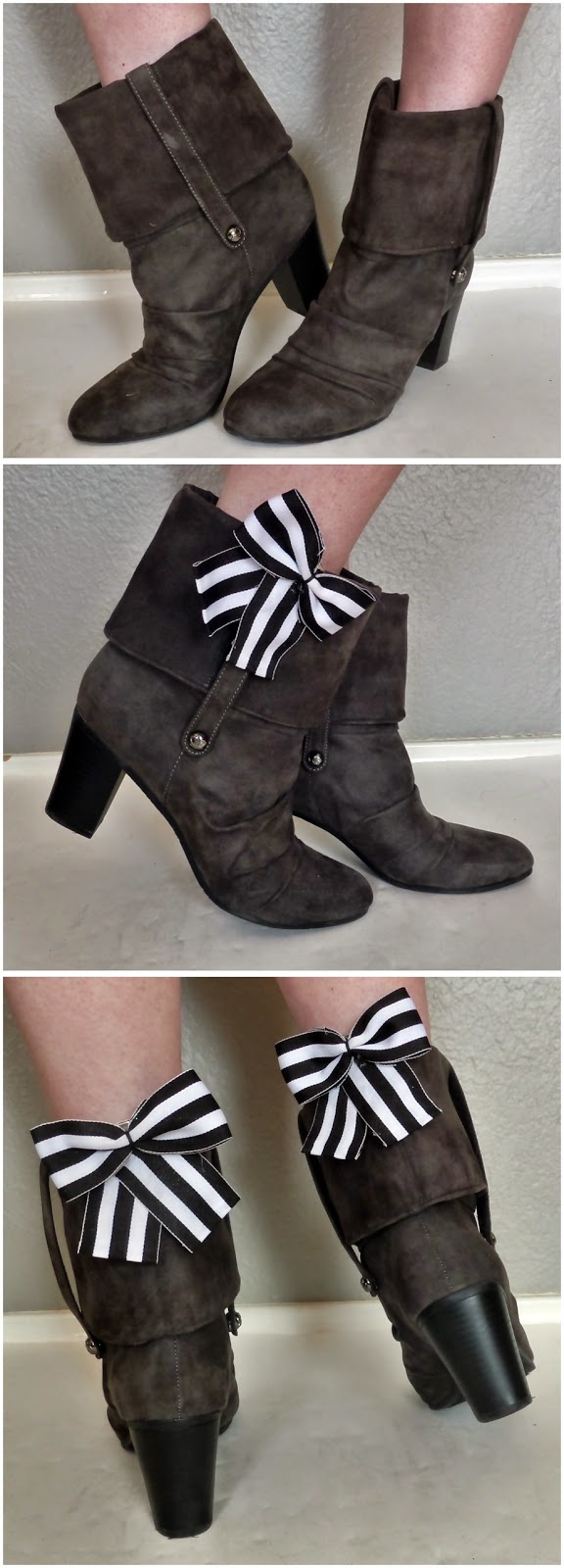 Clip on bows for shoes