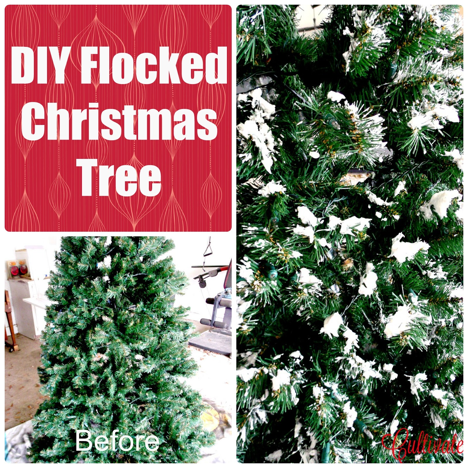 diy if you dare ive been eyeing pretty flocked trees for a while im so drawn to the snowy branches it seems to bring some softness to