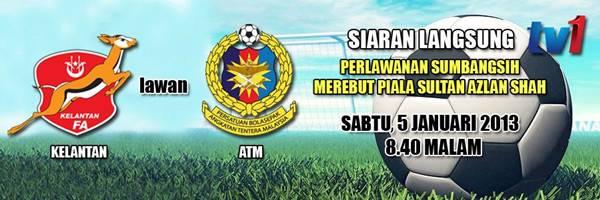 Keputusan Kelantan vs ATM 5 Januari 2013 - Piala Sumbangsih 2013