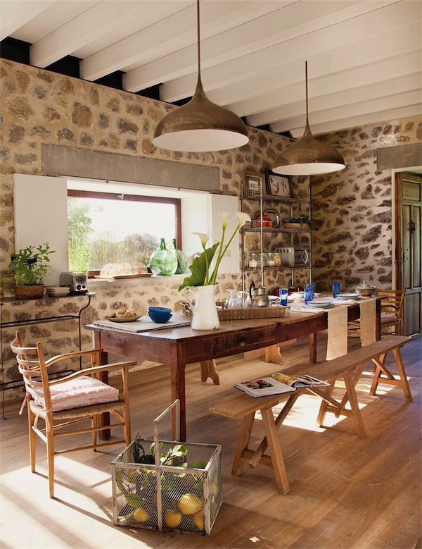 TRES MESAS PERFECTAS PARA UNA COCINA RUSTICA [] THREE PERFECT TABLES ...