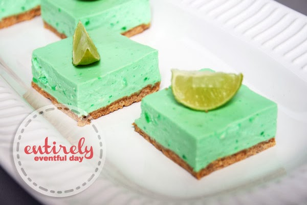 Lime Cheesecake Bars. This recipe is so EASY! #lime #recipe www.entirelyeventfulday.com