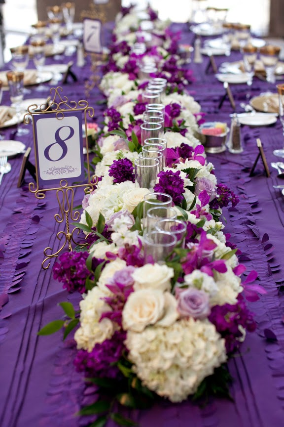 Purple wedding centerpieces stuff ideas