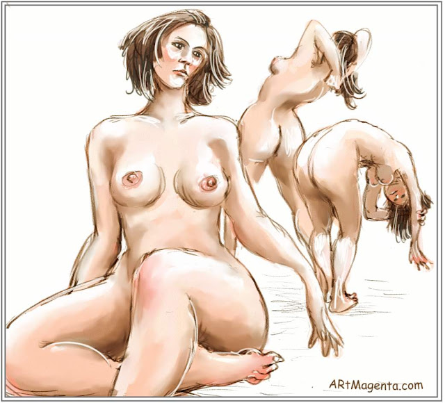 Life drawing by digital artist and illustrator Artmagenta